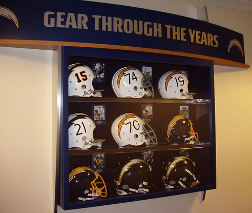 9fb17f91e The San Diego Chargers and Helmet Hut have enjoyed a great friendship over  the past several years and we were very excited to be involved in their  recently ...